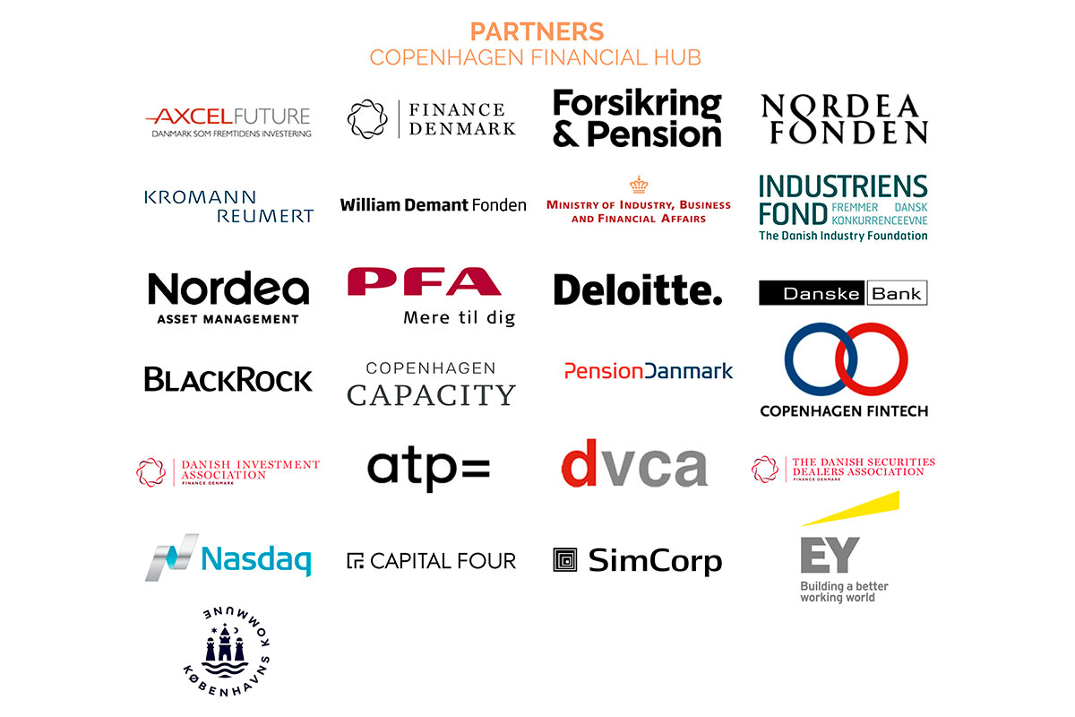 This images shows the partners of Copenhagen financial hub.