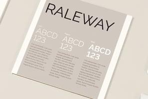 Raleway fonts thumbnail ny